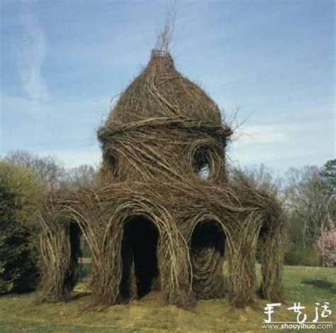 天然树枝巧妙diy的雕塑作品 4 手艺活网