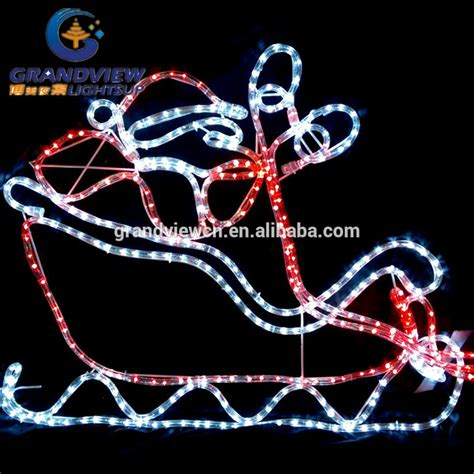 560cm led santa riding 4 reindeer sleigh christmas motif