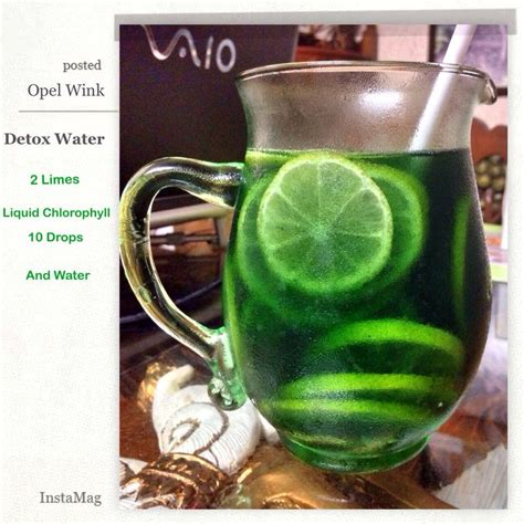 Detox Sore Muscles With Water Mix by My Green Detox Water 2 Limes Liquid Chlorophyll 10