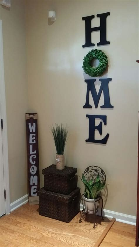 wood letters home  wreath wall decor  diy