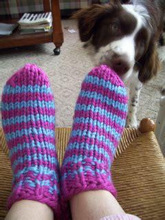 sock pattern bulky yarn ravelry easy super bulky slipper socks pattern by