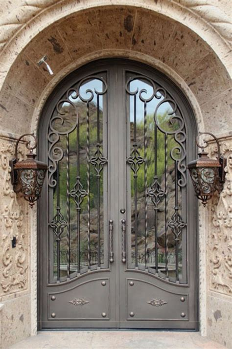 wrought iron doors building material