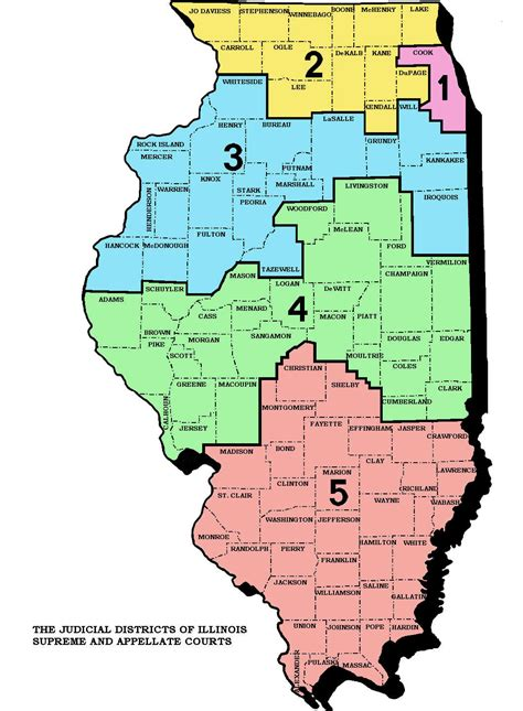 Illinois Courts Search Illinois District Court Map