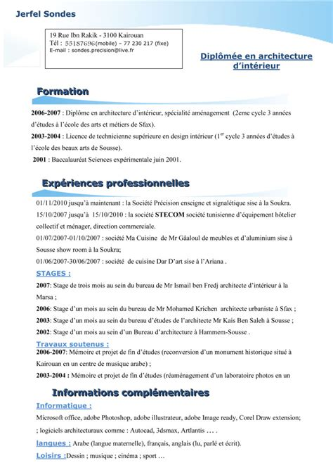 Exemple De Cv De Travail by Modele Lettre De Motivation Batiment Document