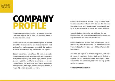 Introduction Letter For Trading Company Profile Ggft 2015 Company Profile