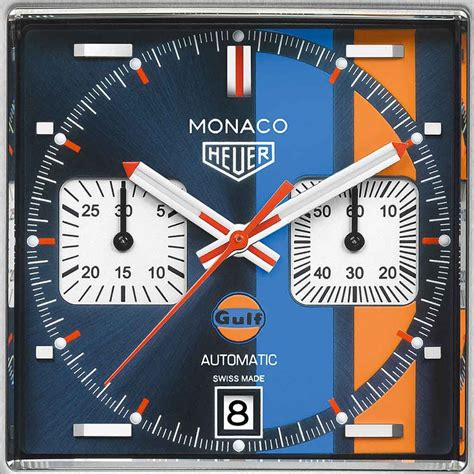 Tag Heuer 50 Th Anniversary Limited Edition Brs tag heuer monaco gulf special edition 50th anniversary ywh