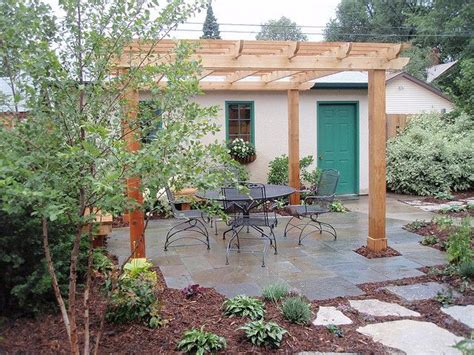 Flagstone Patio With Pergola by Pergola On Flagstone Patio Landscaping