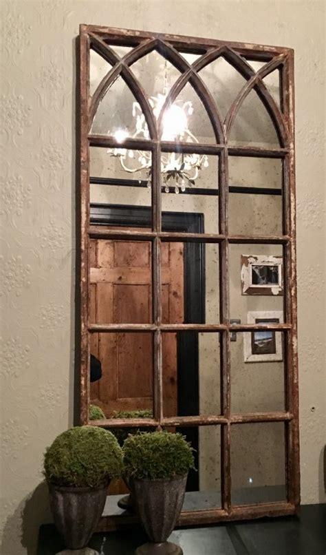 rustic reclaimed small decorative mirror panel rustic