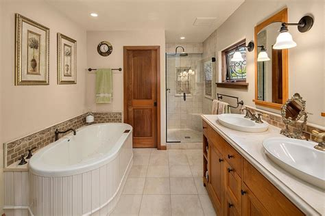 title 24 bathroom lighting craftsman master bathroom with flat panel cabinets