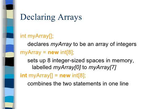 tutorial java array java tutorial