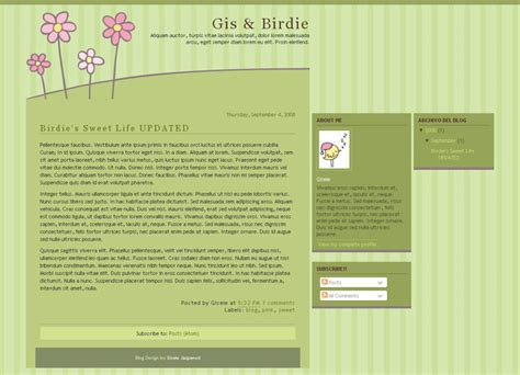 free templates for blogger and wordpress plantillas