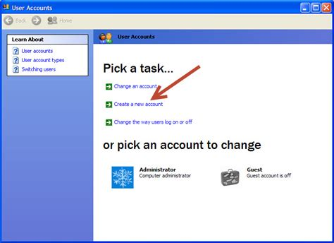 Xp Tutorial Html | how to create a new user account in microsoft windows xp