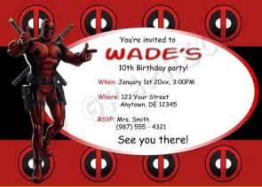 free printable deadpool birthday invitation template drevio invitations design