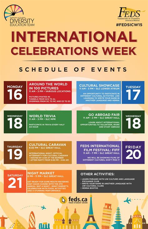 international celebrations week begins federation