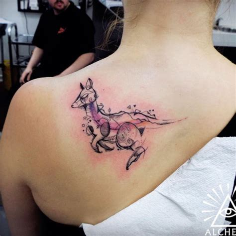 tattoo pictures kangaroo 40 wonderful watercolor tattoos for women tattooblend