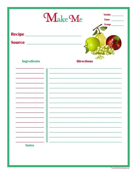 5x7 Recipe Card Template Free by 106 Best Images About Free Recipe Cards Pages On