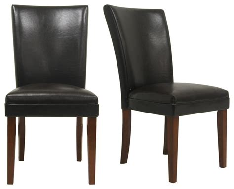 tribecca home portman faux leather parson side chairs