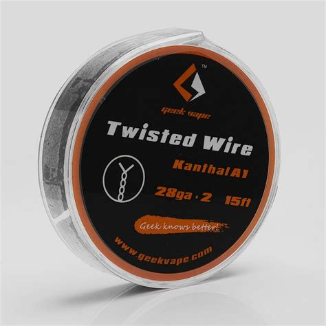Authentic Twisted Kanthal A1 Wire 28 X3 Ga Awg Khant T0210 authentic geekvape twisted kanthal a1 28ga x 2 5m heating wire