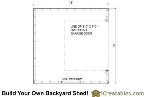 garage door floor plan 12x12 shed plans with garage door icreatables