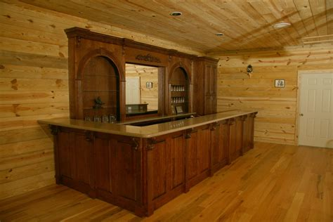 Handmade Bar - made western bar by oak creek cabinets custommade