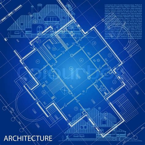 How To Make Blueprint Paper - blueprint vector architectural background part