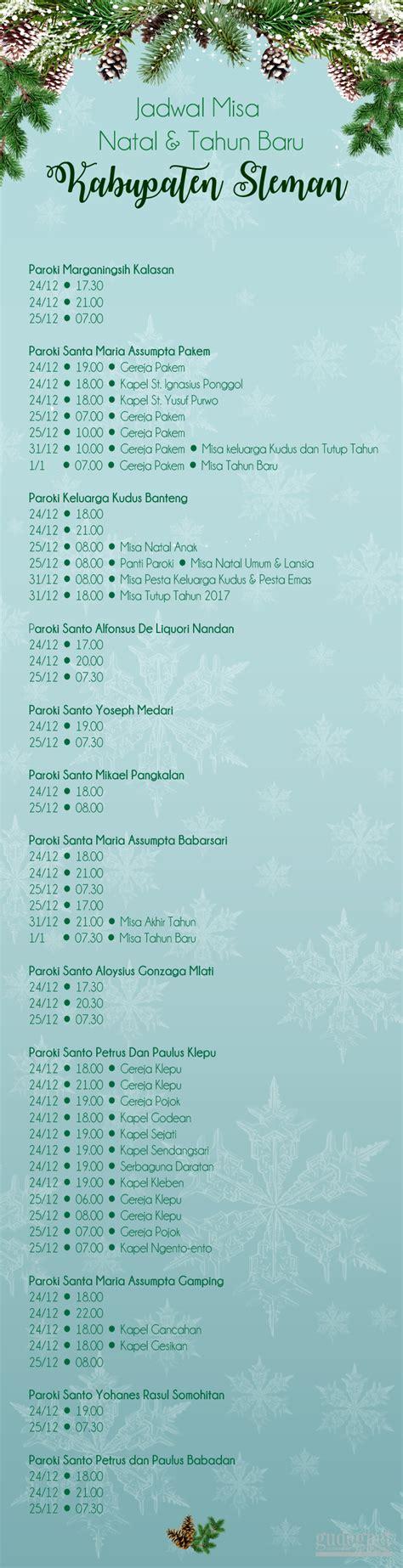 jadwal film natal dan tahun baru jadwal misa natal 2017 dan tahun baru 2018 se diy yogya