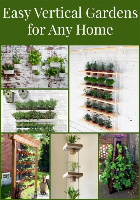 vertical garden planters are easy to make or buy for a