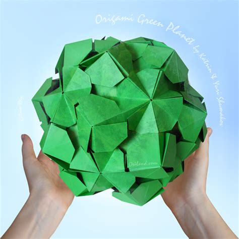 Origami Of The Day - origami green planet happy earth day flickr friends