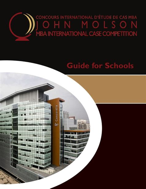 Molson Mba by Molson Mba Competition Guide For Schools