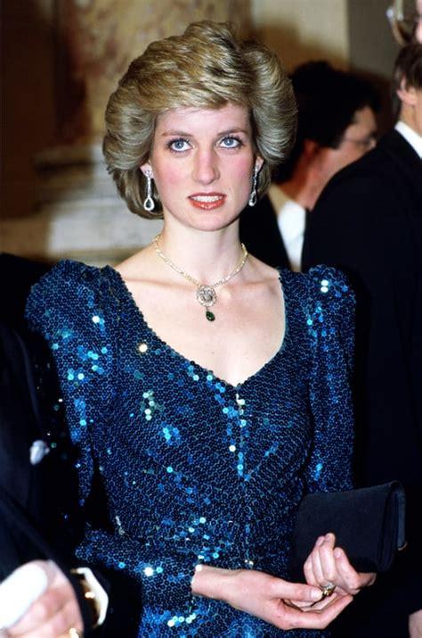 Princess Diana Blue princess diana s blue sequined dress up for auction us