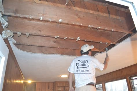Stucco Ceiling Removal by Removing Plaster Ceiling Monk S Home Improvements