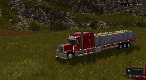 Ls Handmade - peterbilt 388 custom flatbed auto load v1 for ls17