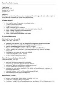 Residential Care Worker Sle Resume by Write Cover Letter Child Care Worker