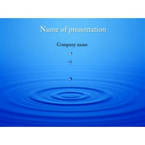 water template water drops powerpoint template background for