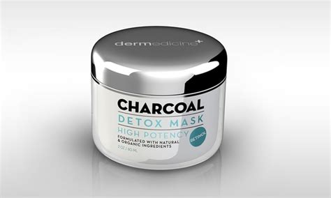 Dermedicine Charcoal Detox Mask by Up To 79 On Charcoal Detox Mask 2 Oz Groupon Goods