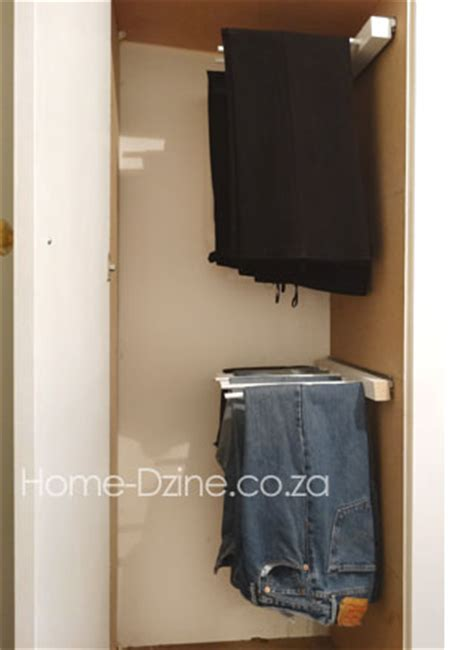 Jean Rack For Closet by Home Dzine Home Diy Diy Trouser Hanging Rack