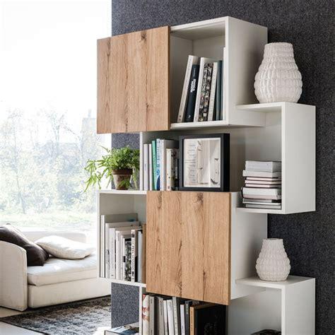 mdf bookcase piquant by cattelan italia design andrea