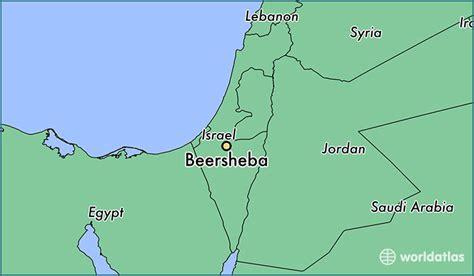 jerusalem map world where is beersheba israel beersheba southern district