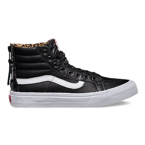 Zipper Vans leather sk8 hi slim zip shop shoes at vans
