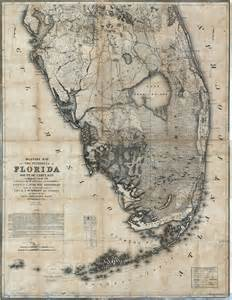 map of the peninsula of florida south of ta