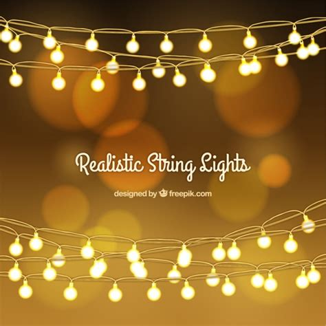 lights vector golden bokeh background with string lights vector free