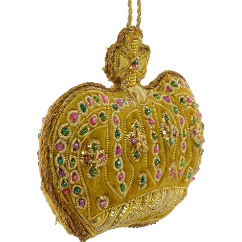 crown ornaments zardozi crown ornament gold mardigrasoutlet