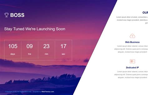 coming soon html5 template free coming soon html5 template free webthemez