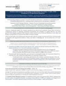 Cio Resume Exles by Cio Chief Information Officer Resume Sle Authentic Resume Branding