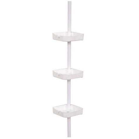 Shower Pole Shelf by Zenna Home Tub And Shower Tension Corner Pole Caddy With 3