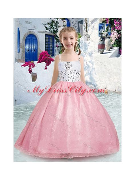 little girl beauty pageant dresses 2016 beautiful spaghetti straps pink little girl pageant