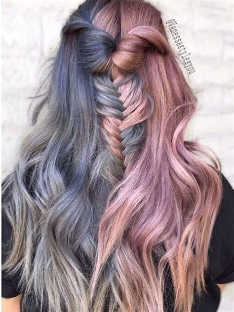 two tone hair color ideas best 25 two color hair ideas on two toned