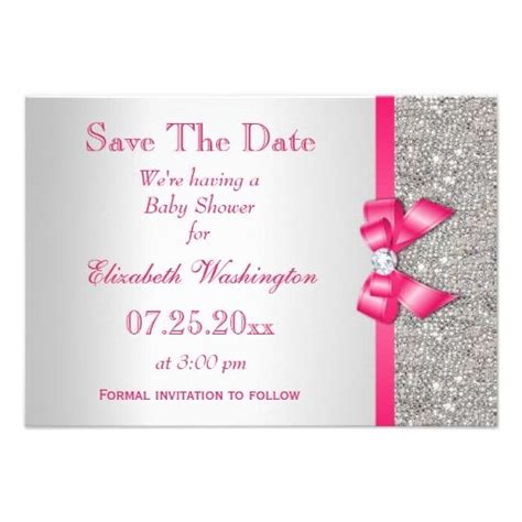 save the date templates for baby shower 97 best diamonds pearls baby shower images on pinterest