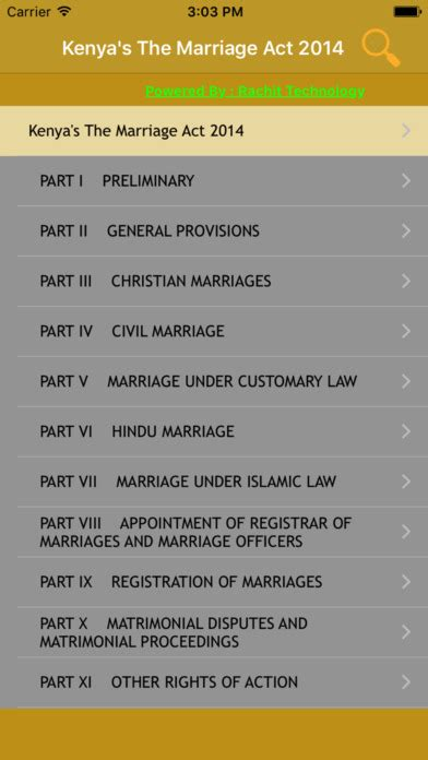 highlights of the marriage act 2014 kenya law kenya s the marriage act 2014 on the app store