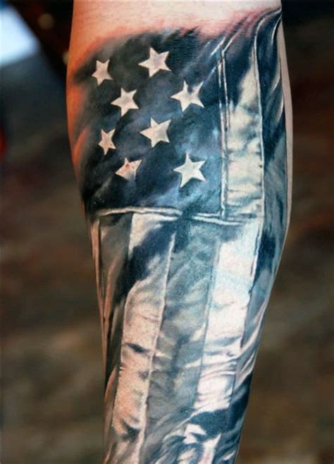 texas tattoos for men american flag forearm